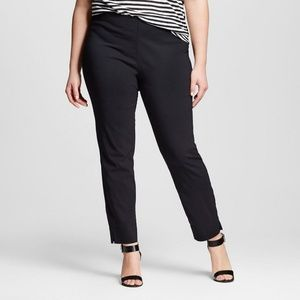 Who What Wear Mid Rise Skinny Black Career Pant